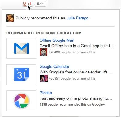 O Botão +1 do Google e o Conteúdo Recomendado