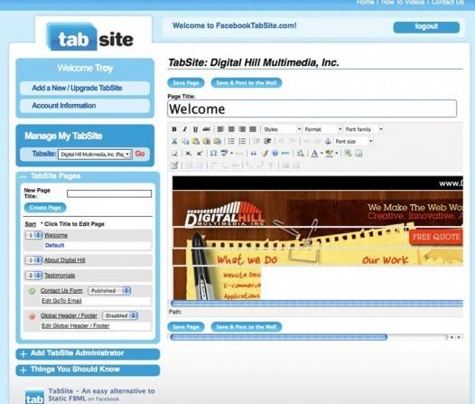 Tabsite e1346271052323 Aplicativos para Fan Pages, aliados mais do que necessários