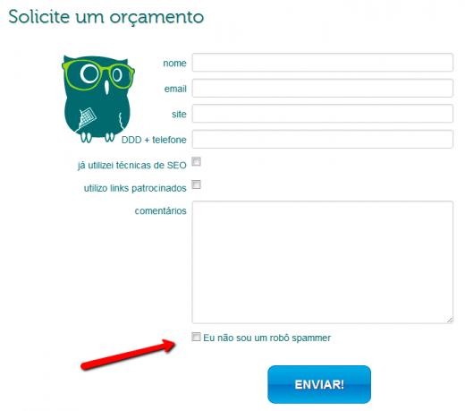 Verificação anti-spam simples